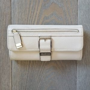 MICHAEL by Michael Kors Cream Leather Wallet